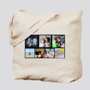 7 Photo Family Collage Tote Bag