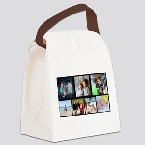 7 Photo Family Collage Canvas Lunch Bag