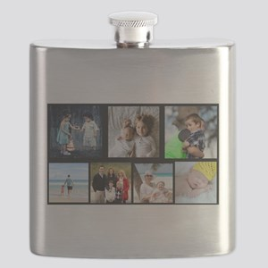 7 Photo Family Collage Flask
