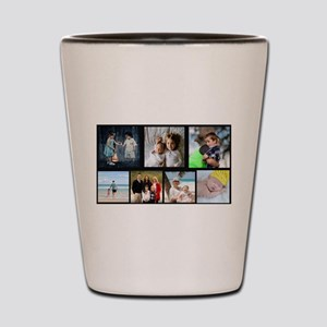 7 Photo Family Collage Shot Glass