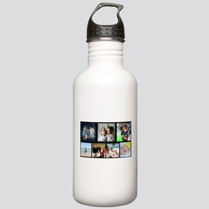 7 Photo Family Collage Water Bottle