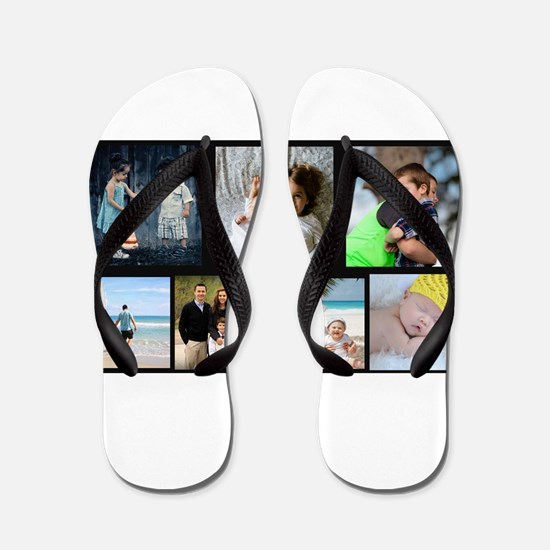 7 Photo Family Collage Flip Flops
