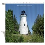 Old Presque Isle Lighthouse Shower Curtain