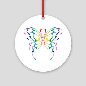 Rainbow Wings Ornament (Round)