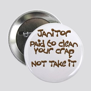 "funny janitor 2.25"" Button"