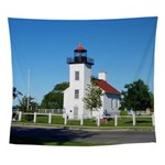 Sand Point Lighthouse Wall Tapestry