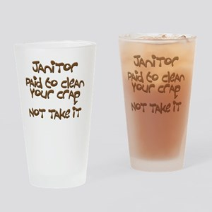 funny janitor Drinking Glass