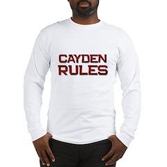 cayden rules Long Sleeve T-Shirt