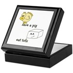 Save a Chicken Eat Tofu Keepsake Box