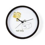 Save a Chicken Eat Tofu Wall Clock