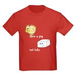 Save a Chicken Eat Tofu Kids Dark T-Shirt