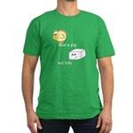 Save a Chicken Eat Tofu Men's Fitted T-Shirt (dark