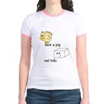 Save a Chicken Eat Tofu Jr. Ringer T-Shirt