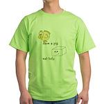 Save a Chicken Eat Tofu Green T-Shirt