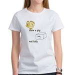 Save a Chicken Eat Tofu Women's T-Shirt