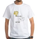 Save a Chicken Eat Tofu White T-Shirt