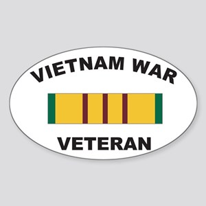Vietnam War Veteran 2 Oval Sticker