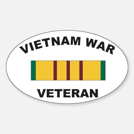 Vietnam War Veteran 2 Oval Decal