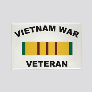 Vietnam War Veteran 2 Rectangle Magnet