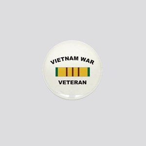 Vietnam War Veteran 2 Mini Button