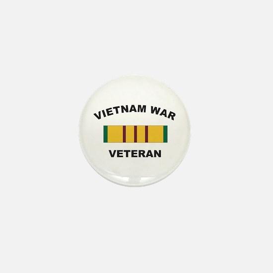 Vietnam War Veteran 2 Mini Button