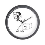 Save a Cow Eat Tofu Wall Clock