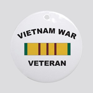Vietnam War Veteran 2 Ornament (Round)