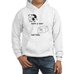 Save a Cow Eat Tofu Hooded Sweatshirt