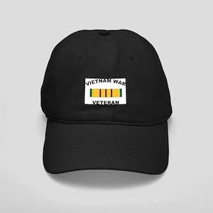 Vietnam War Veteran 2 Black Cap