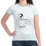 Save a Cow Eat Tofu Jr. Ringer T-Shirt