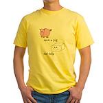 Save a Pig Eat Tofu Yellow T-Shirt