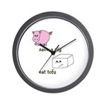 Save a Pig Eat Tofu Wall Clock
