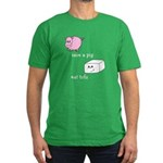 Save a Pig Eat Tofu Men's Fitted T-Shirt (dark)