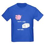 Save a Pig Eat Tofu Kids Dark T-Shirt