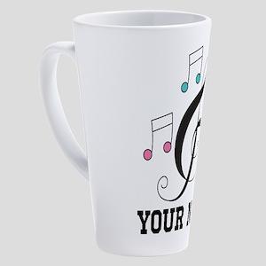 Music Treble Clef Musician Gift 17 oz Latte Mug