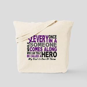 Hero Comes Along Dad Pancreatic Cancer Tote Bag