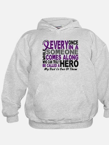 Hero Comes Along Dad Pancreatic Cancer Hoodie