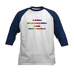 Rainbow PREVENT NOISE POLLUTION Kids Baseball Jers