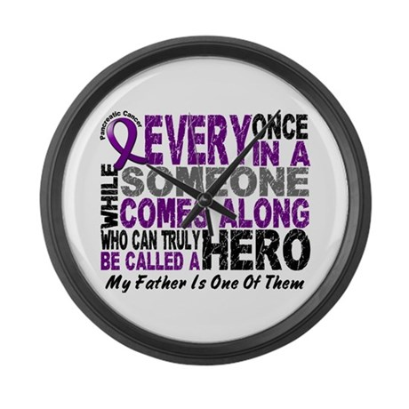 HERO Comes Along 1 Father PC Large Wall Clock