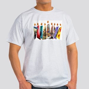 Fabric Chanukah Menorah Light T-Shirt