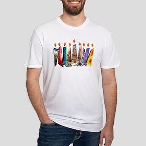Fabric Chanukah Menorah Fitted T-Shirt