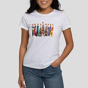 Fabric Chanukah Menorah Women's T-Shirt