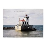 Oswego West Pierhead Light 5'x7'area Rug