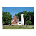 Port Sanilac Lighthouse 5'x7'area Rug