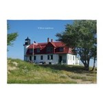 Point Betsie Lighthouse 5'x7'area Rug