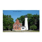Port Sanilac Lighthouse Area Rug