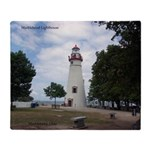 Marblehead Lighthouse Throw Blanket
