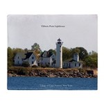 Tibbetts Point Lighthouse Throw Blanket