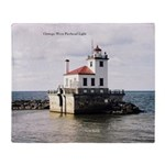 Oswego West Pierhead Light Throw Blanket