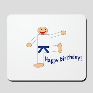 Martial Arts Dk Blue Belt Birthday Mousepad
